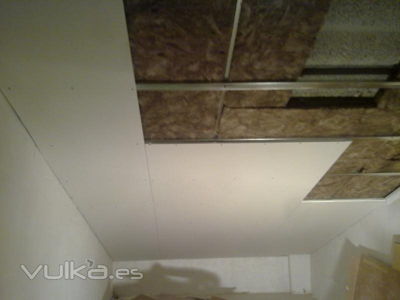 Foto falso techo aislamiento acustico y termico - Falsos techos de pladur ...