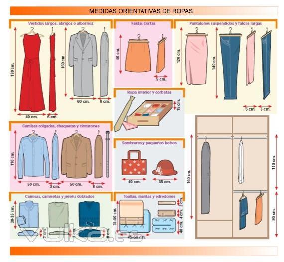 Foto medidas de ropa para un mayor aprovechamiento a la hora de dise ar un armario - Disenar un armario empotrado ...