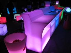 Barras de bar iluminadas