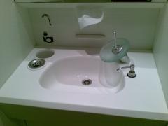 Mueble lavabo en material corian