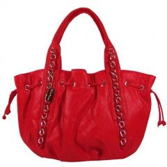 Bolso rojo cadenas ajustable