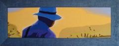 Titulo: Un Día  de Pesca Técnica: Tapiz   Materiales: Pura lana Virgen Medidas: 100 x 39 cm. Precio: