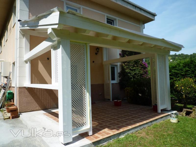 Arteaga estructuras de madera - Construccion de porche de madera ...