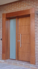 Puerta acorazada a d l gardesa f3000 fijo lateral madera inox