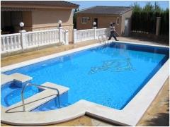 piscina gunitada con hidromasaje