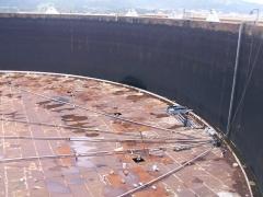 STS-Instalación en tanque de techo flotante