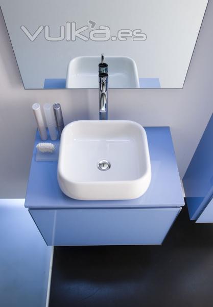 Foto vilanova i la geltr ba o lavabo ros s interiors artesi for Muebles vilanova i la geltru