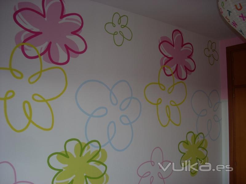Foto colocacion de mural juvenil for Murales decorativos juveniles