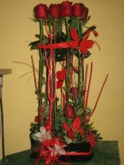 Centro floral, decoracion con flores de allium floristeria
