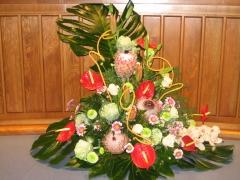 Decoracion floral para mesa de allium floristas