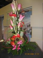 Decoracion flor fresca en centro de mesa de allium floristas