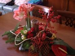 Decoracion flores en centro de mesa navide�o de allium floristas