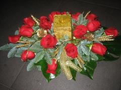 Centro de mesa de flor fresca de allium floristeria