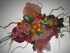 Decoracion con flor fresca para centro de mesa Allium Floristas