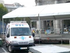 Servicio de ambulancia para concierto de musica. ambulanias san jose