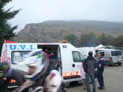 Ambulancia en carrera de bicicletas. servicio uvi movil, quirofano movil en madrid