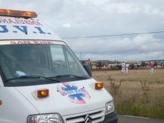 Ambulancia san jose asistencia sanitaria uvi movil en capeas, corridas, encierros de toros espa�a