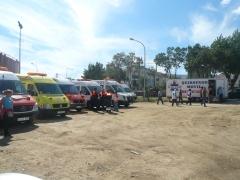 Ambulancia san jose asistencia sanitaria evento taurino, plaza de toros, corrida
