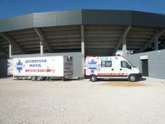AMbulancia, quirofano movil, asistencia medico sanitaria para plazas de toros, totalmente equipada