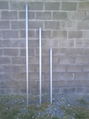 Postes galvanizados 1m, 1,5m, 2m