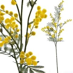 Rama artificial de flores mimosa en lallimona.com (detalle 1)