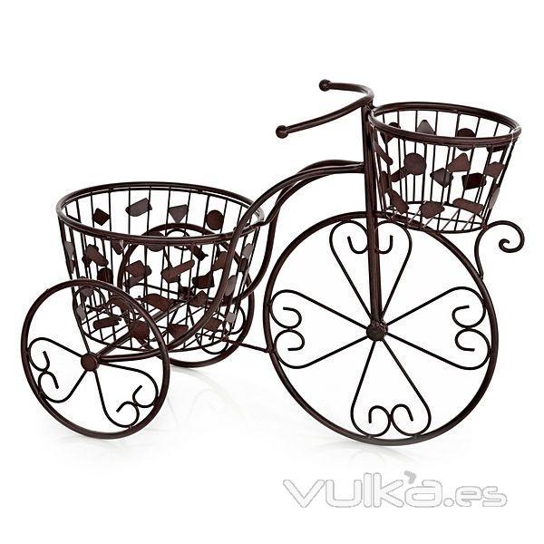 Foto bicicleta vintage metal dos macetas en - Bicicleta macetero ...