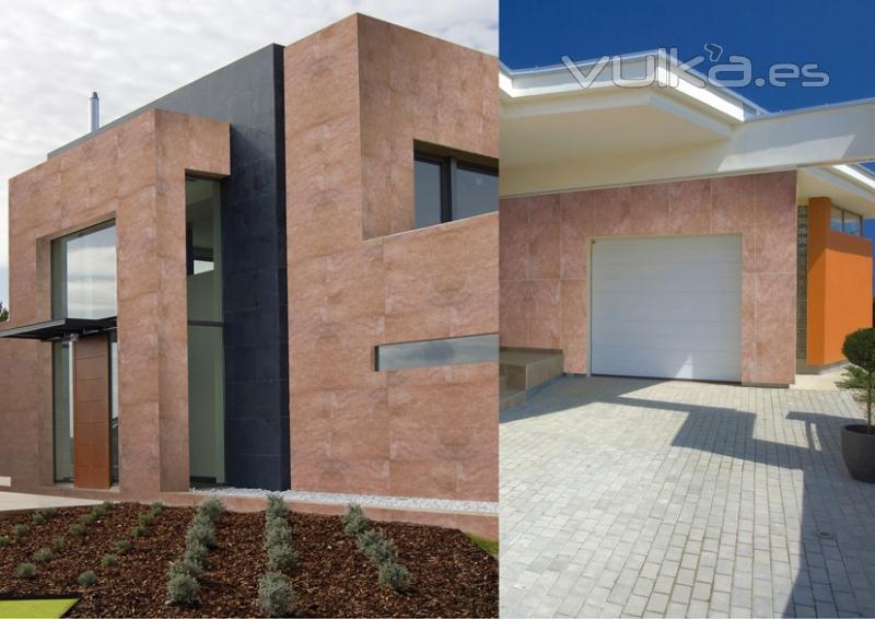 Foto revestimiento fachadas exteriores con piedra natural for Revestimientos para exteriores