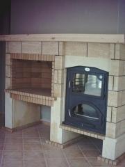 Barbacoa de obra boca 100 cms. con horno metalico mod.sierra