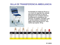 Silla para ambulancia
