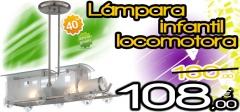 Lámpara infantil locomotora con un 40% de descuento