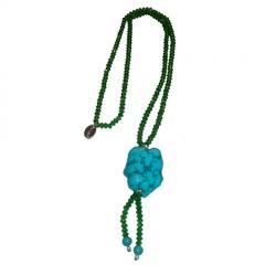 Art. 4000-108 collar cristales turquesa mia
