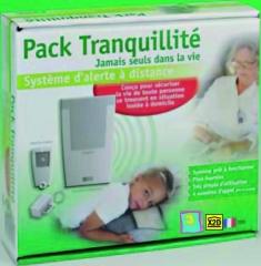 El pack contiene un transmisor telefónico y un medallón de alerta.