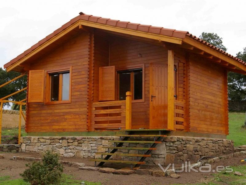 Foto caba a de madera modelo salamanca for Casas para jardin madera