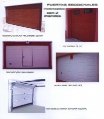 Puertas seccionales motorizadas, para garajes