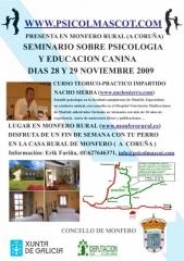 Seminario psicolog�a canina en galicia por nacho sierra