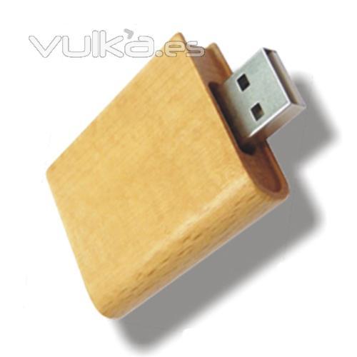 Memoria USB de madera. Disponible desde 1 hasta 16Gb. Ref. USBWD7