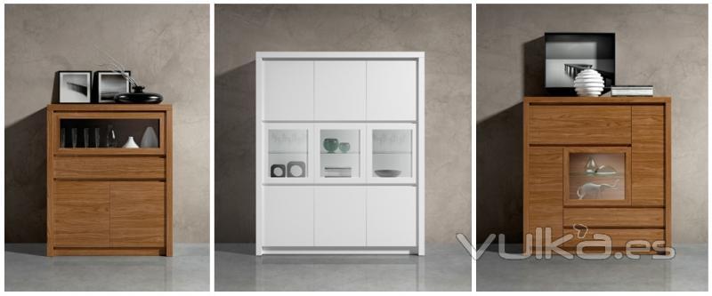 Foto comedor moderno con amplias combinaciones de aparadores - Aparadores de diseno moderno ...