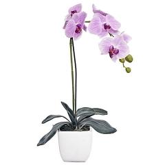 Planta artificial flores orquidea lavanda en lallimona.com