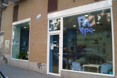 Fachada de pet spa madrid