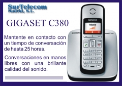 Nuevo inal�mbrico dect siemens gigaset c380