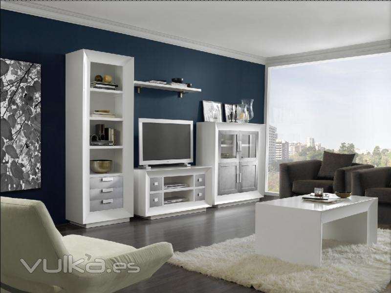 Foto mueble salon lacado todos los colores de la carta ral for Muebles de pladur para salon