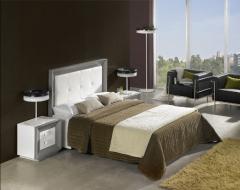 Dormitorio en laca blanca y plata,mas posibilidades de acabados