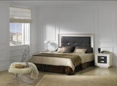 Dormitorio en polipiel marron y blanco,mas posibilidades de acabados