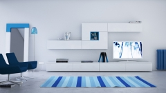 Mueble salon en laca brillo