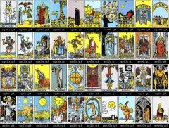 Tarot Waite Rider, Los Arcanos que lo forman , son grandes sabios informando al tarotista