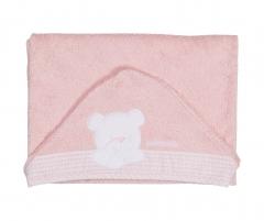 Toalla capa orson rosa, de petit praia