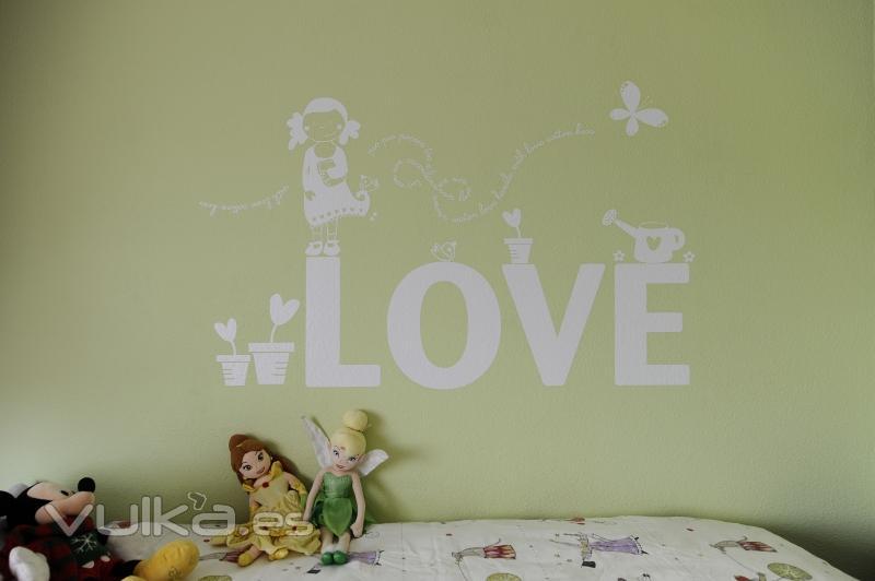 Foto vinilo decorativo infantil sobre gotele o estucado for Vinilos decorativos para gotele