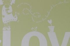 Detalle vinilo decorativo infantil sobre gotele o estucado zaragoza