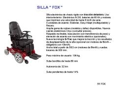 Silla electrónica tracción delantera fdx