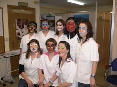 Maquillajes realizados por alumnas de est�tica